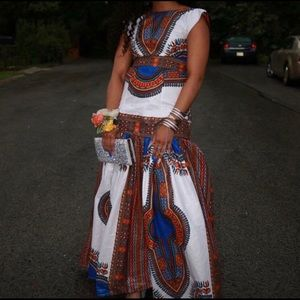 Dresses & Skirts - Beautiful African print dress. Worn once to Prom.